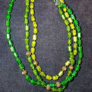 Vintage Western Germany multi layer necklace